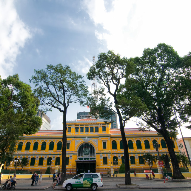 """Saigon Central Post Office, Ho Chi Minh city, Vietnam"" stock image"