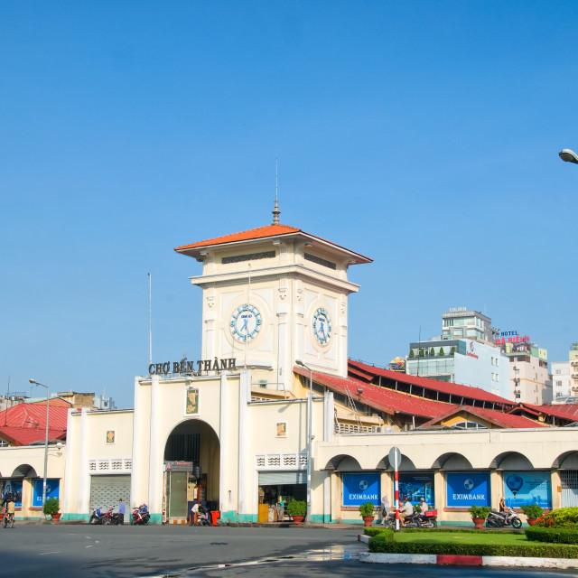 """Ben Thanh market, Ho Chi Minh city, Vietnam"" stock image"