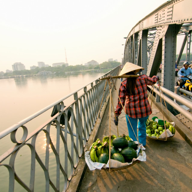 """Trang Tien bridge, Hue city, Vietnam"" stock image"