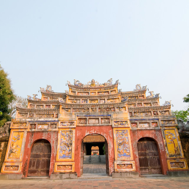 """Beautiful site of Citadel in Hue, Vietnam"" stock image"