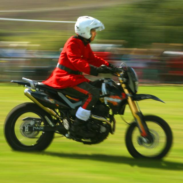 """Speeding Motorbike"" stock image"