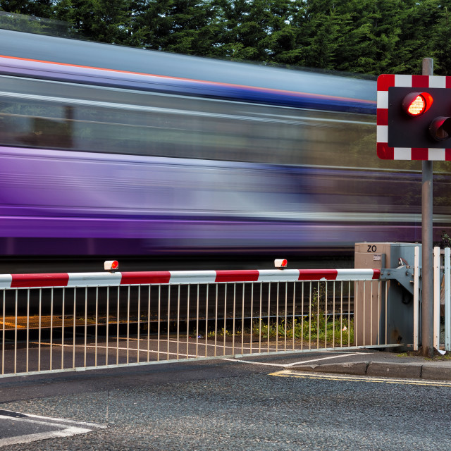 """Speeding Train"" stock image"