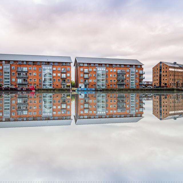"""Gloucester Docks"" stock image"