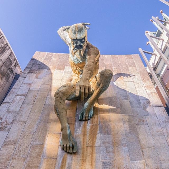 """God of the Tyne"" stock image"