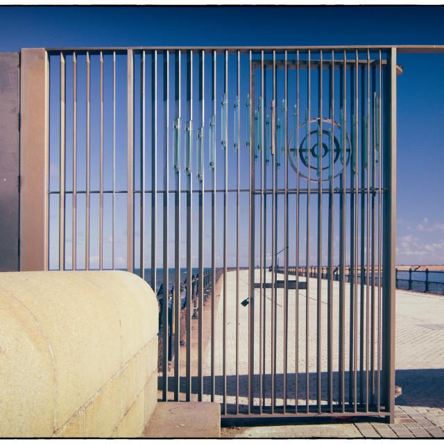 """""""Roker Pier Gates"""" stock image"""