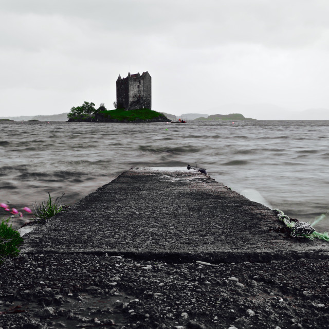 """Pathway to Castle Stalker"" stock image"