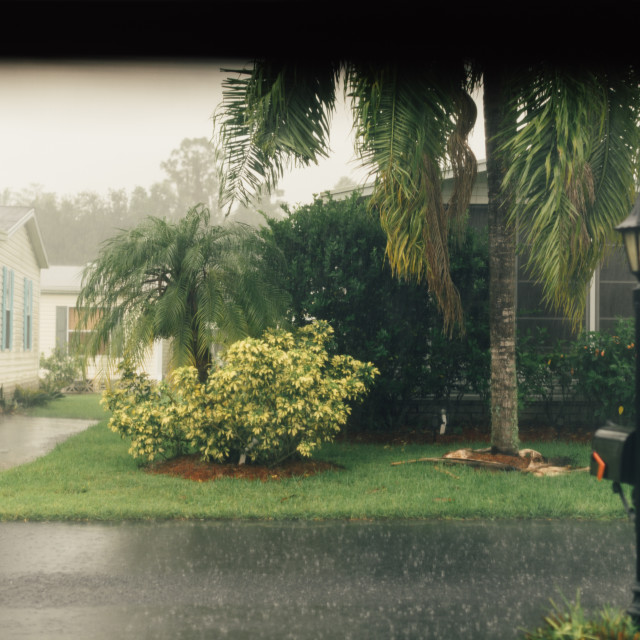 """A rainy day in Florida"" stock image"