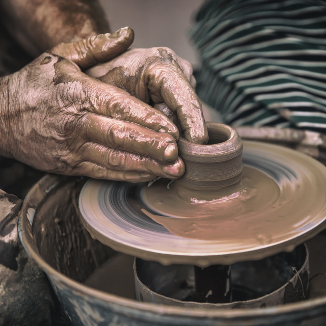 """Pottery making"" stock image"