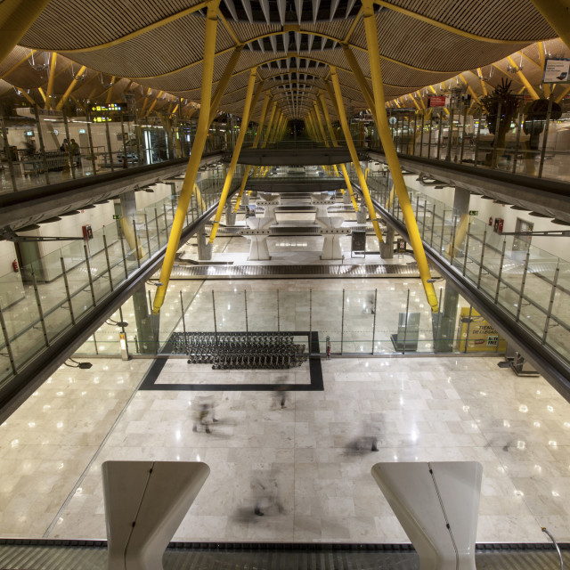 """T4 Arrivals Terminal, Madrid Barajas International Airport, Spain"" stock image"