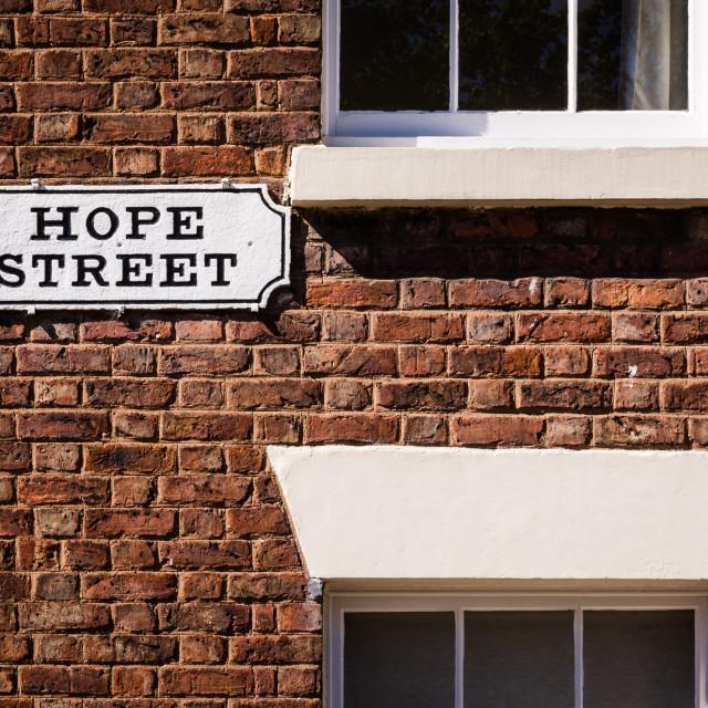 """Hope street sign"" stock image"