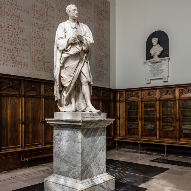"""Statue of Newton"" stock image"