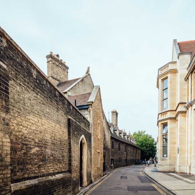 """Street in Cambridge"" stock image"