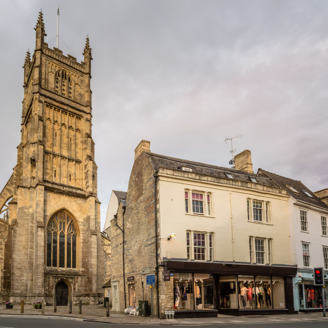 """""""Church in Cirencester"""" stock image"""