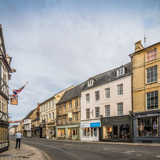 """""""Town of Cirencester at sunset"""" stock image"""