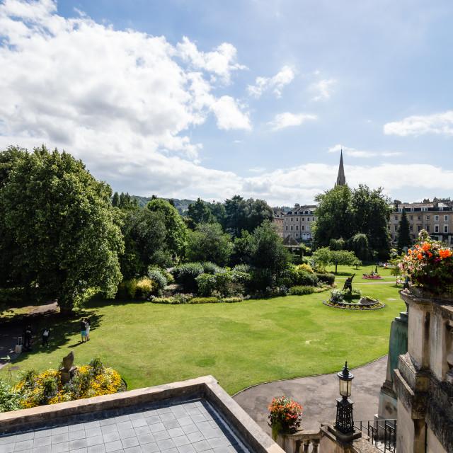 """Urban park in Bath"" stock image"