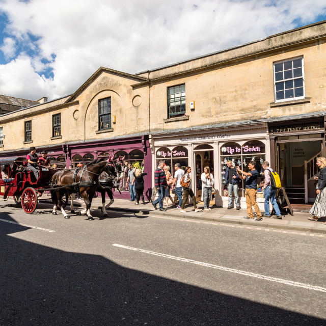 """""""Commercial street in Bath"""" stock image"""