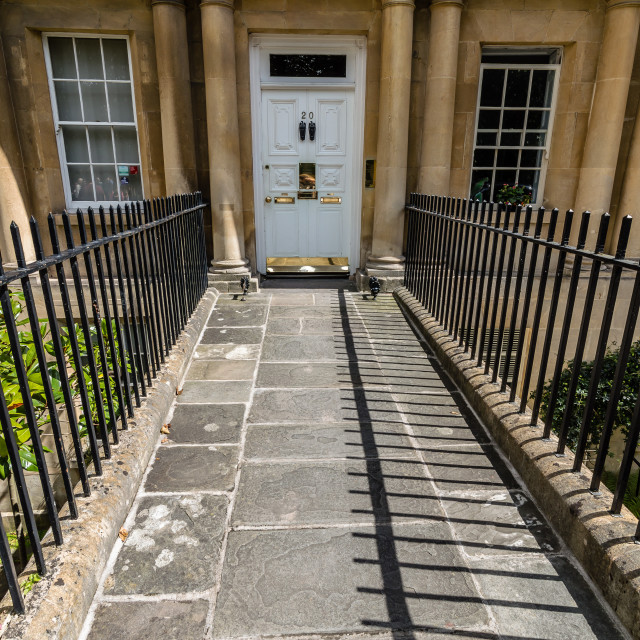 """""""Entrance to circus building in Bath"""" stock image"""