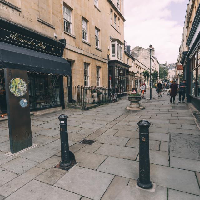 """Street in Bath"" stock image"