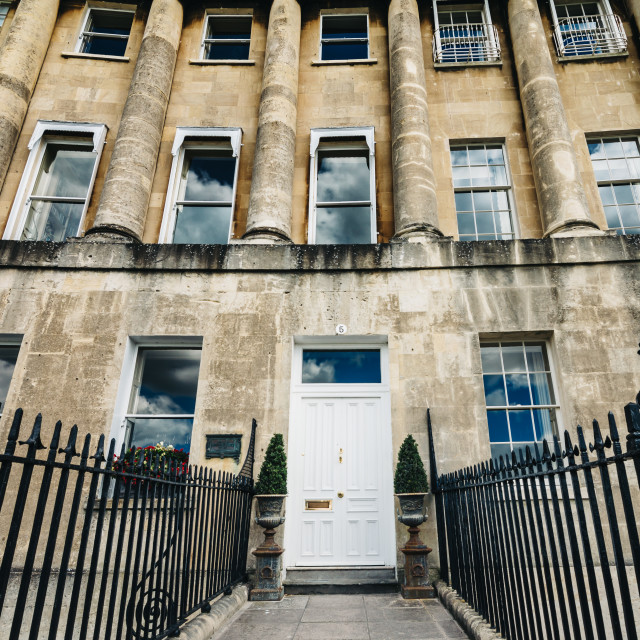 """""""Royal Crescent in Bath"""" stock image"""