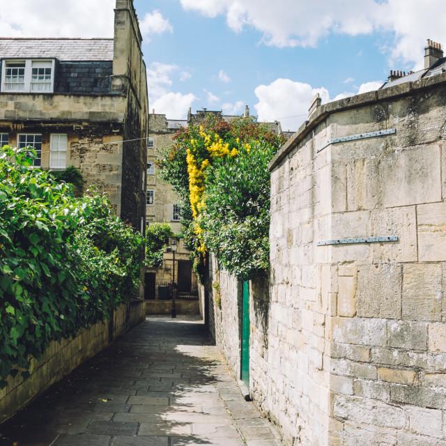 """Pedestrian alley in Bath"" stock image"