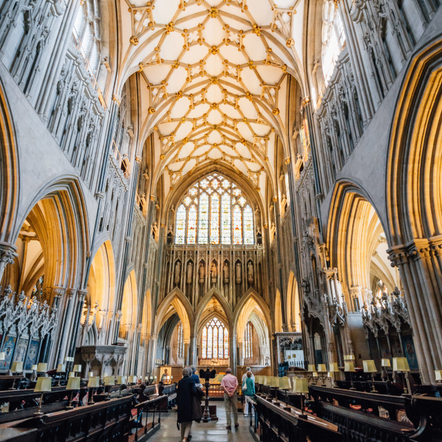 """""""Interior of Cathedral of Wells"""" stock image"""