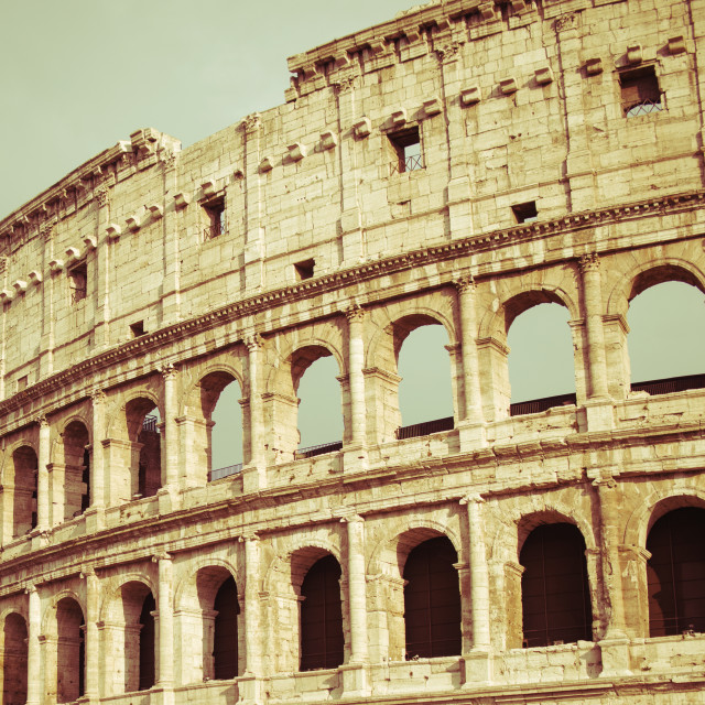 """vintage Colosseum in Rome, Italy"" stock image"
