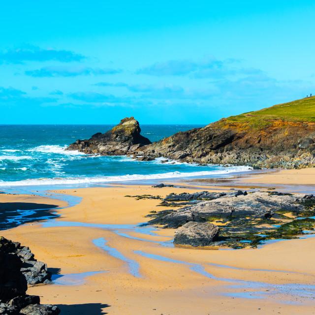 """Trevone Bay, Near Padstow, North Cornwall."" stock image"