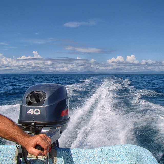 """""""Out on the sea"""" stock image"""