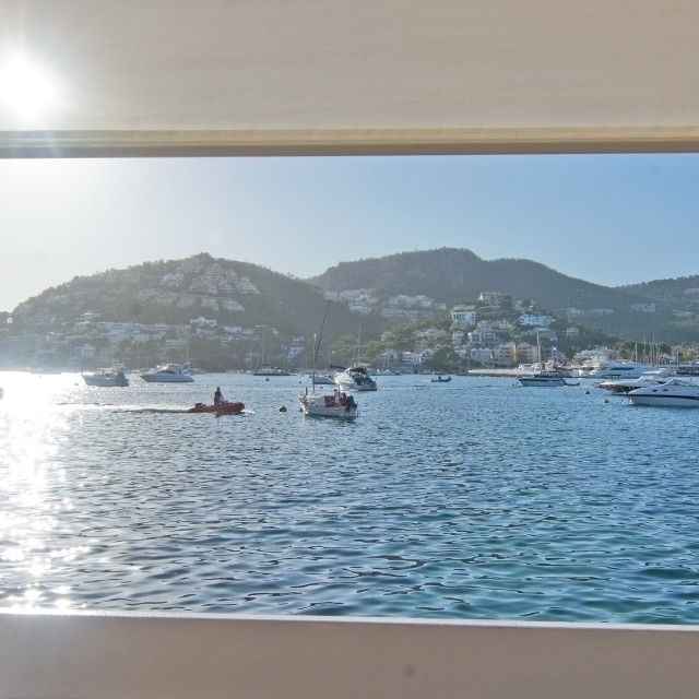 """Restaurant seaside view"" stock image"