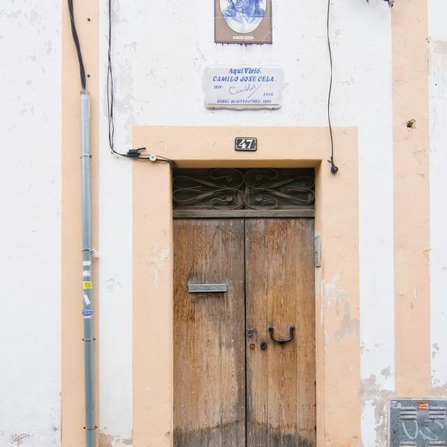 """Home of Nobel Prize winner in literature Camilo Jose Cela"" stock image"