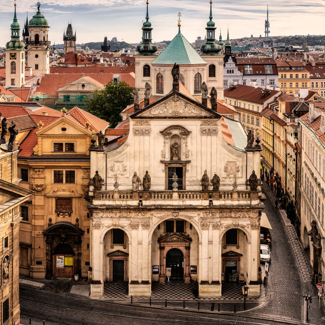 """Church of St. Saviour - Prague, Czech Republic"" stock image"