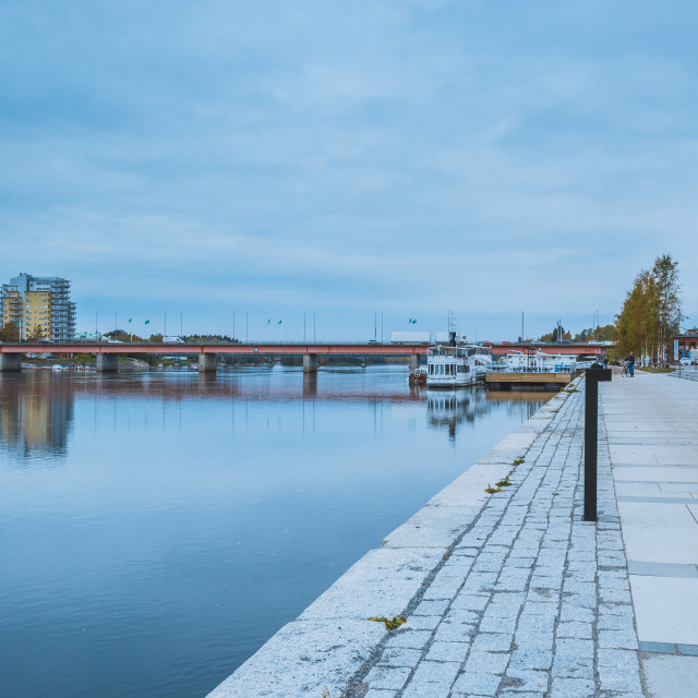 """Northern tranquility in Umea Sweden"" stock image"