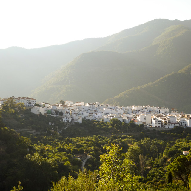 """The white washed spanish village of Istan"" stock image"
