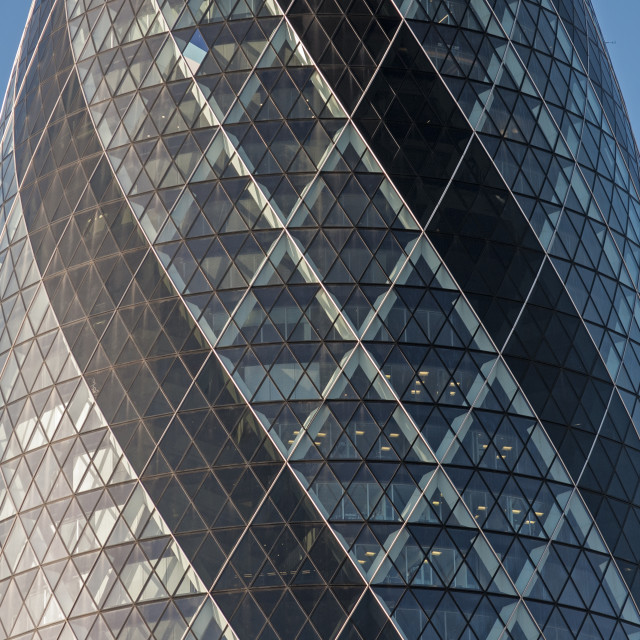 """30 St Mary Axe (Swiss Re Building or Gherkin) , City of London"" stock image"