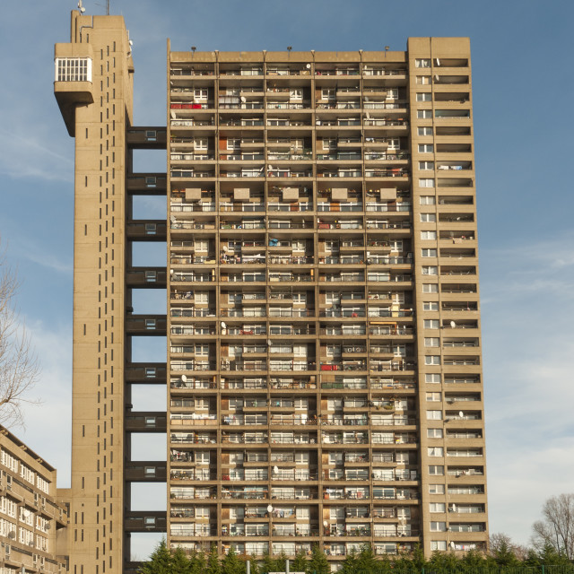 """Brutalist Trellick Tower, London, England"" stock image"