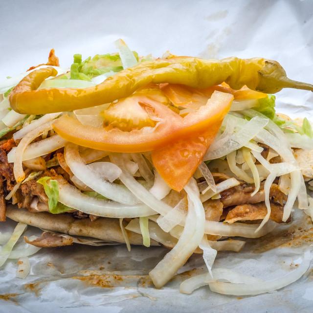 """""""Take Away Doner Kebab"""" stock image"""