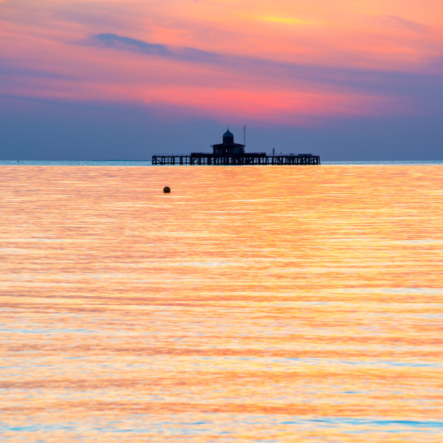 """Herne Bay sunset"" stock image"