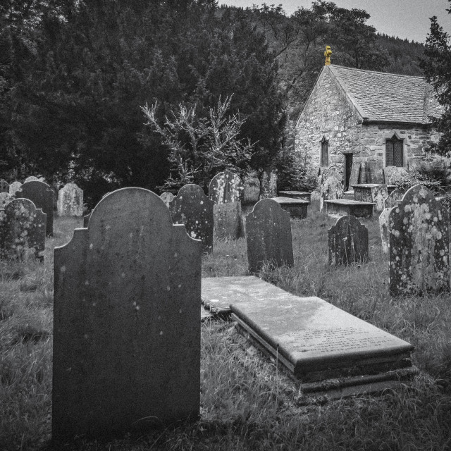 """Light in the Churchyard"" stock image"