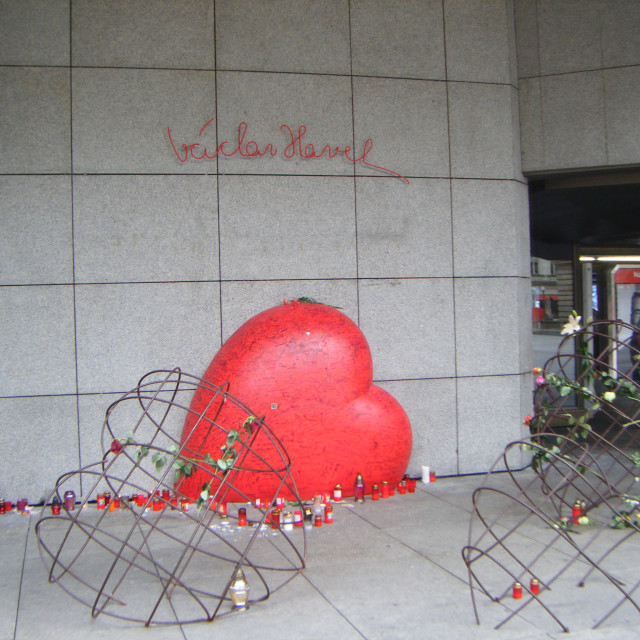 """Vaclav Havel Square in Prague"" stock image"