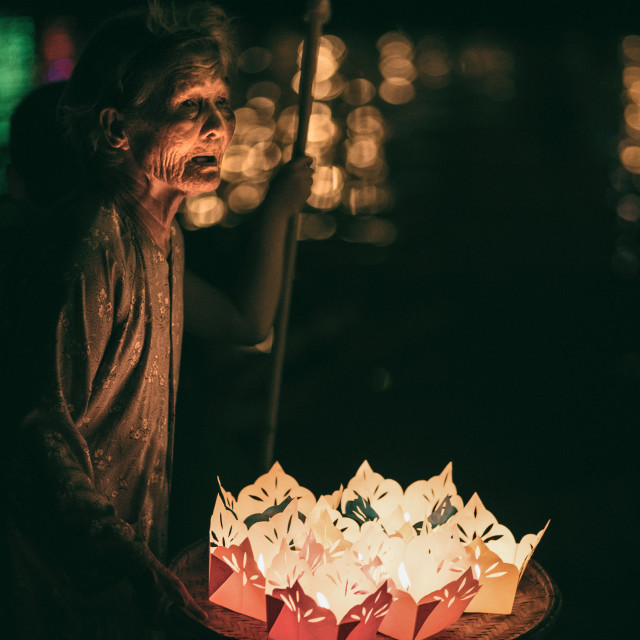 """Lantern Seller"" stock image"