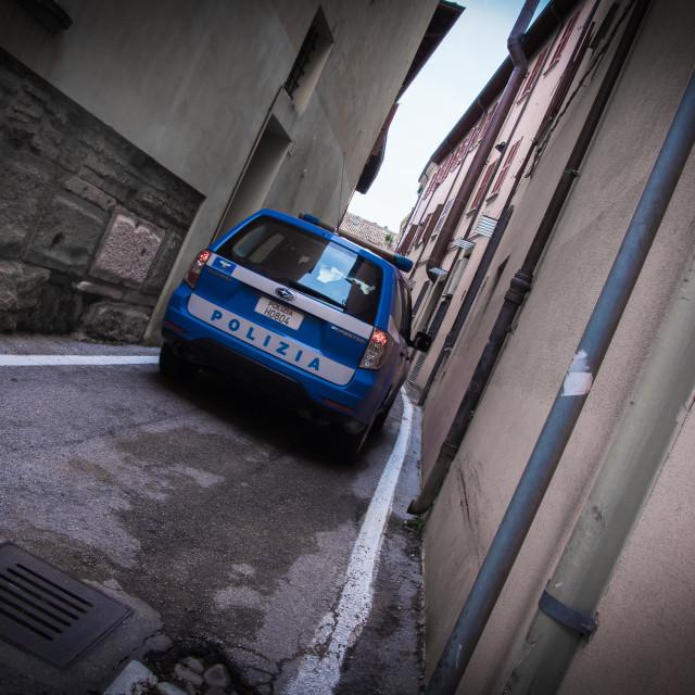 """""""Police car in Rimini (Italy)"""" stock image"""