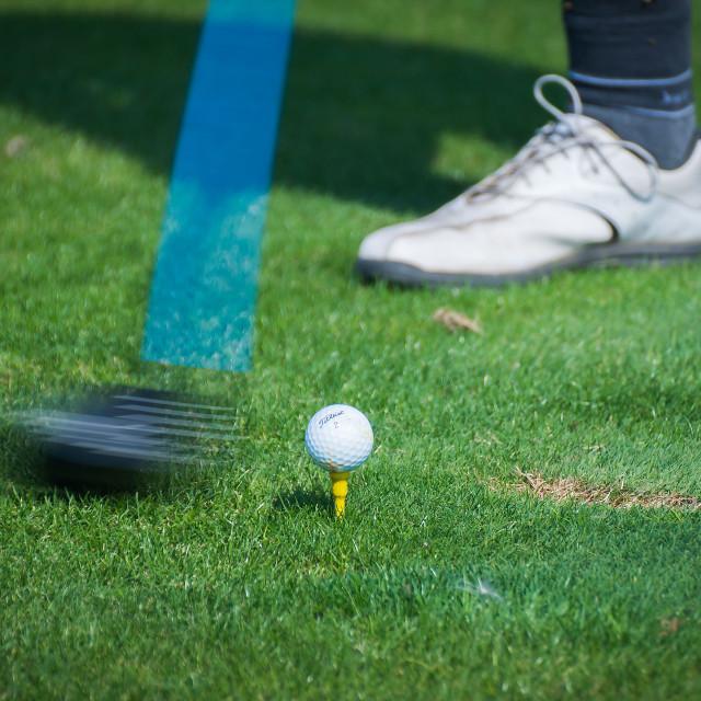 """Golf - swing"" stock image"