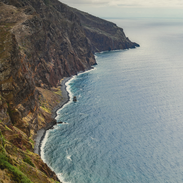 """Rough coastline of Madeira"" stock image"