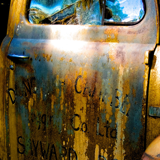 """Rusty Old Truck Detail"" stock image"