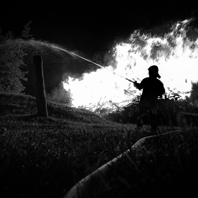 """Fire fighter"" stock image"