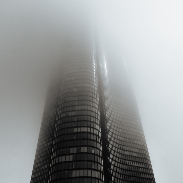 """In The Fog"" stock image"