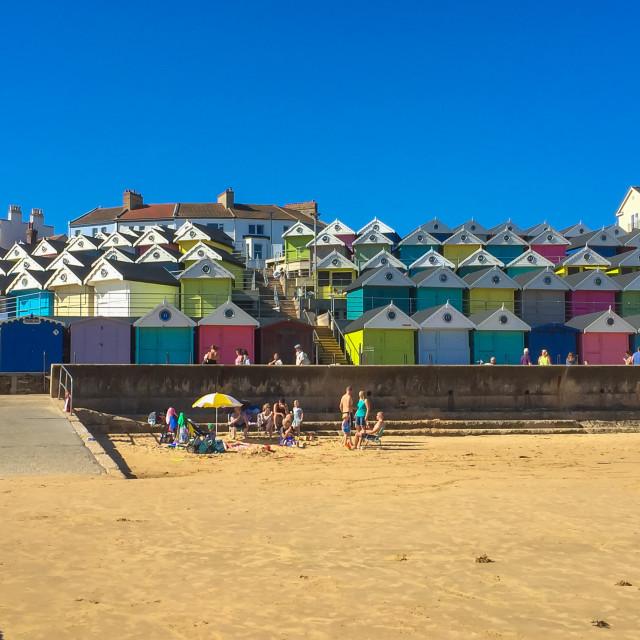 """Walton On Naze Art Deco Beach Huts"" stock image"