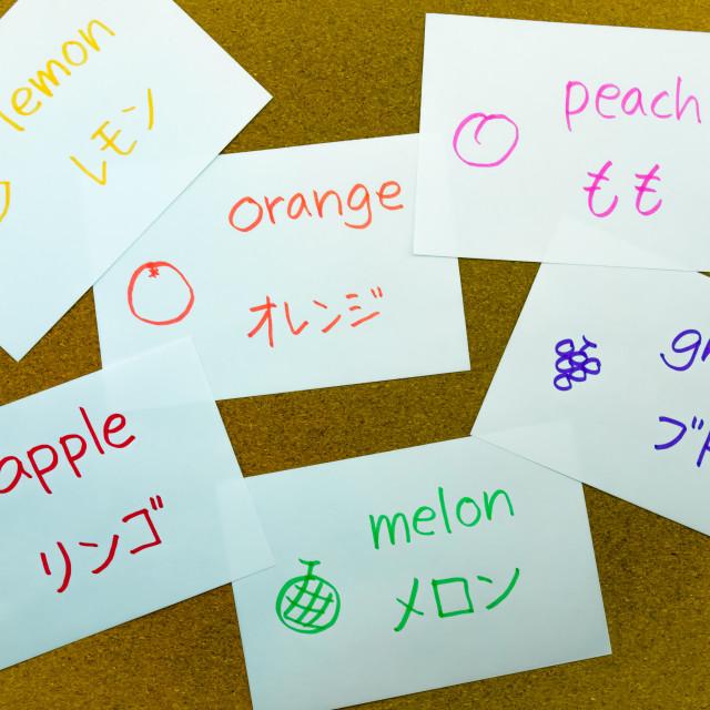 """""""Language Flash Cards; Japanese"""" stock image"""