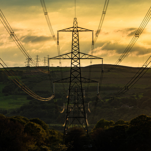 """March of the Pylons."" stock image"