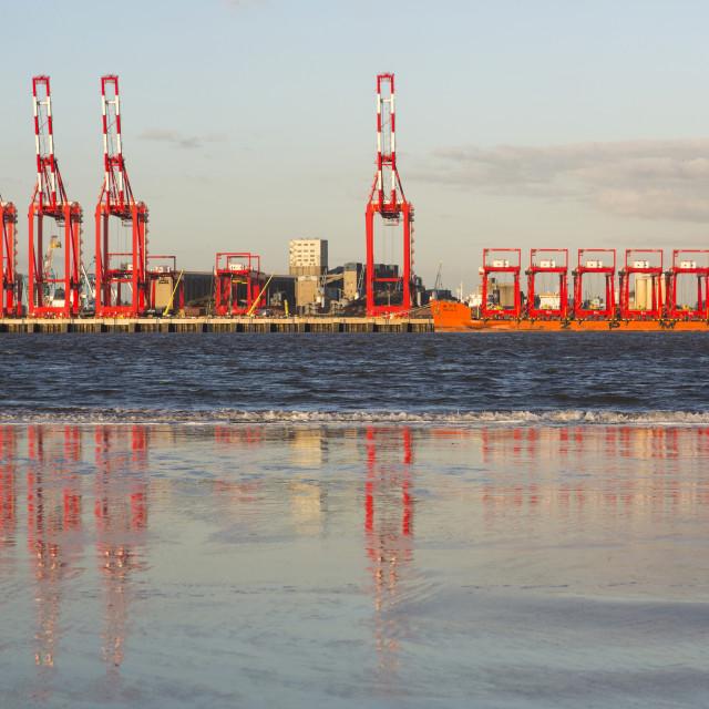 """Liverpool Docks Reflection"" stock image"